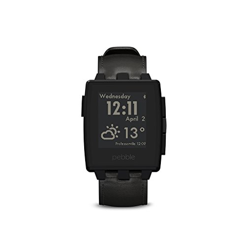 Pebble 401BLR Steel Smart Watch (3,2 cm (1,26 Zoll) E-paper Display inkl. LED Backlight) matte schwarz