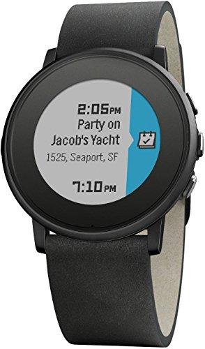 Pebble 60100049 Time Round Smartwatch 20mm schwarz