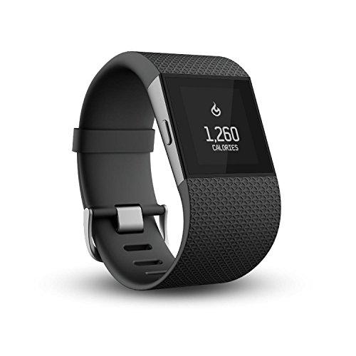 Fitbit Fitness Super Watch Fitbit SURGE, Schwarz, L, FB501BKL-EU