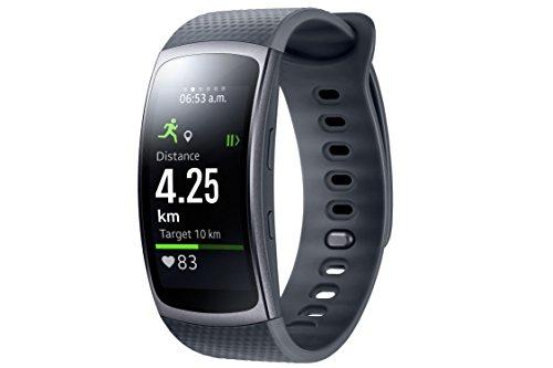 Samsung Gear Fit 2 Smartwatch mit Pulssensor und Benachrichtigungen - Dunkelgrau (L)