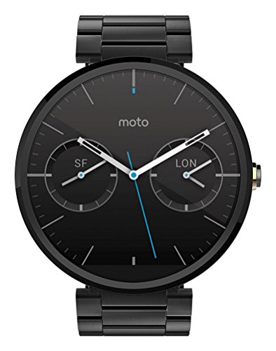 Motorola Moto 360 Metal Edition Dark-Finish Smartwatch (Metal Band, 23 mm)