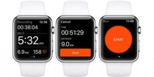 Apple Watch Series 2 mit Apps von Strava