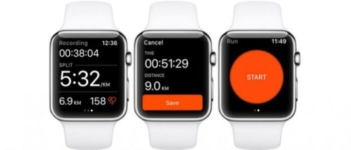 Apple Watch Series 2 mit Apps von Strava