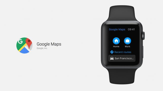 Google Maps für Apple Watch, Bild: Google