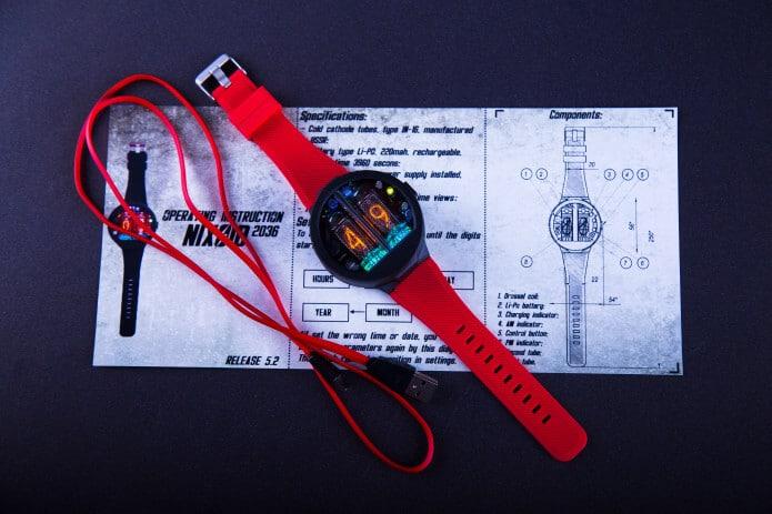 Nixoid Nixie-Armbanduhr