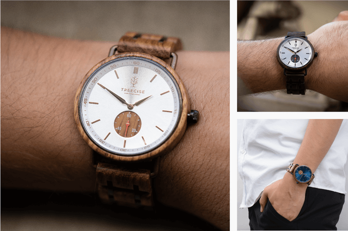 Treecise Holz-Armbanduhr